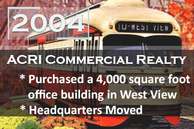Acri Realty 2004 West View Headquarters Move Milestone